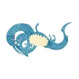 дракон шаржа китайский с пузырем речи Стоковое фото RF