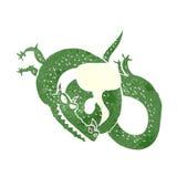 дракон шаржа с пузырем речи Стоковая Фотография RF