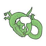 дракон шаржа с пузырем речи Стоковое Фото