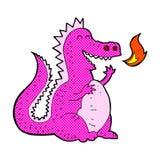 дракон шуточного огня шаржа дышая Стоковая Фотография RF