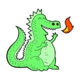 дракон шуточного огня шаржа дышая Стоковое фото RF