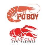 Ракы Po'Boy и Cray Cray Стоковая Фотография