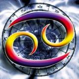 рак астрологии Стоковая Фотография RF