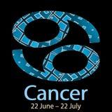 рак Орнаментальный декоративный знак зодиака вектора Астурии бесплатная иллюстрация