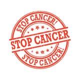 Рак стопа - круглый штемпель grunge иллюстрация штока