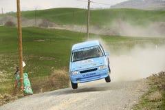 ралли автомобиля скача Стоковая Фотография