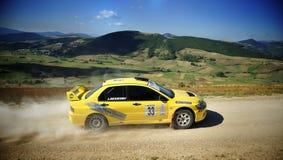 ралли гонки mitzubishi lancer автомобиля Стоковая Фотография RF