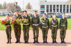 Ралли предназначенное к победе в войне 1941-1945, в регионе Kaluga России стоковое фото rf