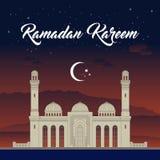 Рамазан, Eid Mubarak, иллюстрация вектора поздравительной открытки Стоковая Фотография RF