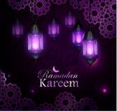 Рамазан Kareem, приветствуя предпосылку, eps 10 Стоковые Изображения
