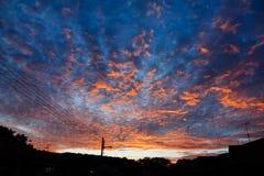 драматический заход солнца неба Стоковое фото RF