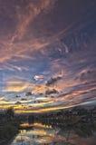 драматический заход солнца Стоковые Изображения