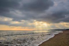 драматический заход солнца Стоковое фото RF