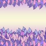 Рамка абстрактных фиолетовых листьев Стоковые Фото