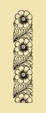 рамка абстрактных элементов конструкции флористическая Стоковая Фотография