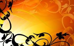 рамка абстракции флористическая золотистая Стоковые Фото