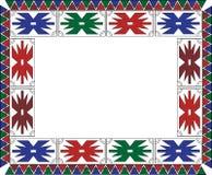Рамка африканской этнической картины с крестами и треугольниками иллюстрация штока