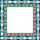 Рамка африканской этнической картины с arrowes иллюстрация вектора