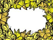 рамка бабочек иллюстрация вектора
