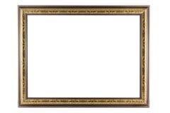 Рамка бронзы и золота изолированная на белой предпосылке Стоковое Фото