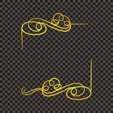 Рамка вектора золотая винтажная, сияющая граница изолированная на темноте бесплатная иллюстрация