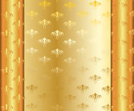 Рамка вектора золотая с золотым Стоковые Изображения RF
