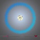 Рамка вектора круглая Предпосылка картины элемента абстрактного полутонового изображения графическая Стоковая Фотография
