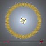 Рамка вектора круглая Предпосылка картины элемента абстрактного полутонового изображения графическая Стоковое Фото
