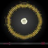 Рамка вектора круглая Предпосылка картины элемента абстрактного полутонового изображения графическая Стоковые Изображения