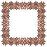 Рамка вектора орнаментальная мягкая розовая Изолированный квадратный элемент Стоковая Фотография