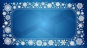 Рамка вектора с белыми снежинками Стоковая Фотография