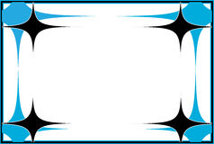 Рамка вектора формы звезды иллюстрация вектора