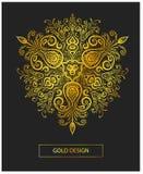 Рамка вектора флористическая в восточном стиле Богато украшенный элемент для дизайна установьте текст Стоковое Фото