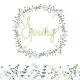 Рамка весны флористическая иллюстрация штока