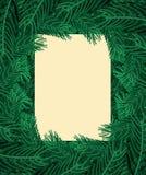 Рамка ветвей рождественской елки Ветвь предпосылки Xmas сосны n бесплатная иллюстрация