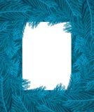 Рамка ветвей рождественской елки голубая Ветвь предпосылки Xmas pi иллюстрация штока