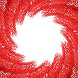 Рамка ветвей рождественской елки красная Ветвь предпосылки Xmas штыря бесплатная иллюстрация