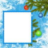 рамка ветвей шарика предпосылки голубая Стоковое Фото