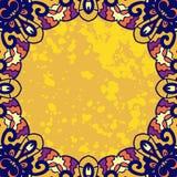 Рамка винтажного орнамента круглая для текста стилизованно Стоковая Фотография RF