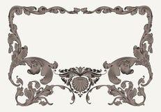 Рамка винтажных богато украшенных кривых богато украшенная Стоковые Изображения