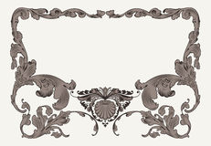 Рамка винтажных богато украшенных кривых богато украшенная иллюстрация вектора