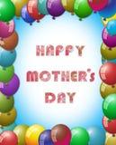 Рамка воздушного шара, счастливая концепция дня матерей Стоковые Изображения