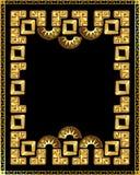 Рамка в стиле золота Incas Стоковые Фото