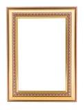 Рамка года сбора винограда золота. Шикарное винтажное золото/позолотило wi картинной рамки Стоковые Изображения