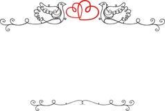 Рамка года сбора винограда свадьбы Стоковые Изображения