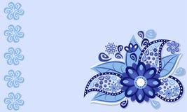 Рамка голубого цветка иллюстрация штока