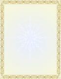 Рамка границы вектора винтажная с символами рождества Стоковые Изображения RF
