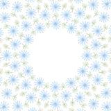 Рамка границы круга с цветками и листьями иллюстрация вектора