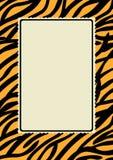 Рамка границы печати кожи тигра Стоковые Изображения RF
