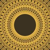 Рамка границы с абстрактным контуром шнурка guilloche Стоковые Фотографии RF